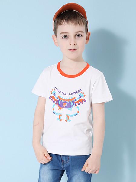 杰米熊童装品牌2020春夏新款半袖体恤中大儿童短袖t恤