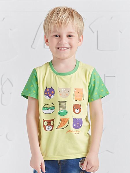 杰米熊童装品牌2020春夏男童T恤小童打底衫宝宝上衣儿童圆领韩版