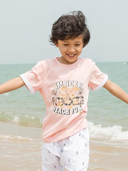杰米熊童装品牌2020春夏短袖T恤儿童中大童时尚上衣百搭款