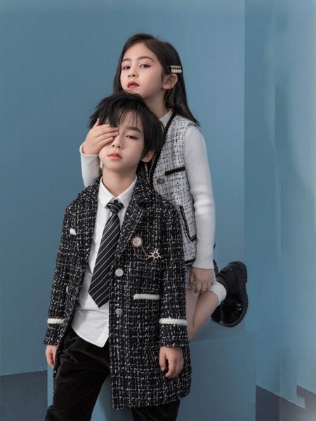 优仔优妹龙8品牌2020秋冬西装黑色外套