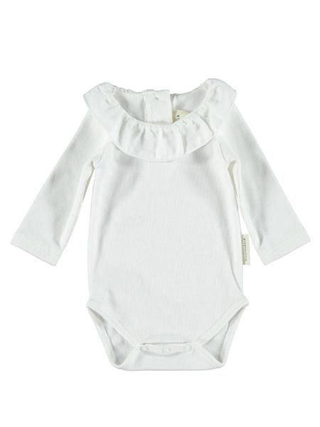 piupiuchick童装品牌2020春夏白色荷叶边连体裤