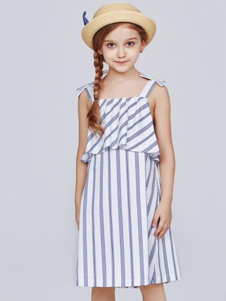 歌拉齐亚baby Graziella童装品牌2020夏休闲棉麻女童套装裙