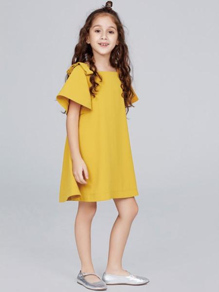 歌拉齐亚baby Graziella童装品牌2020夏女童纯棉喇叭袖连衣裙