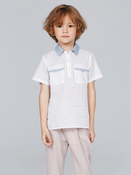 歌拉齐亚baby Graziella童装品牌2020夏纯棉衬衫翻领短袖