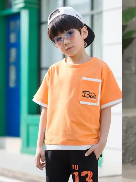 荻野千寻童装品牌2020春夏休闲圆领男童短袖
