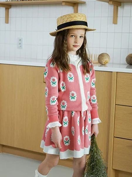 bebetailor童装品牌2020春花朵粉色上衣短裙