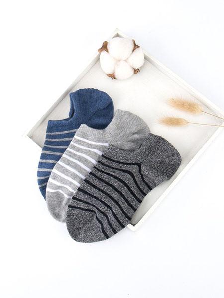 宝路易家纺童装品牌2020春夏纯棉吸汗防臭船袜