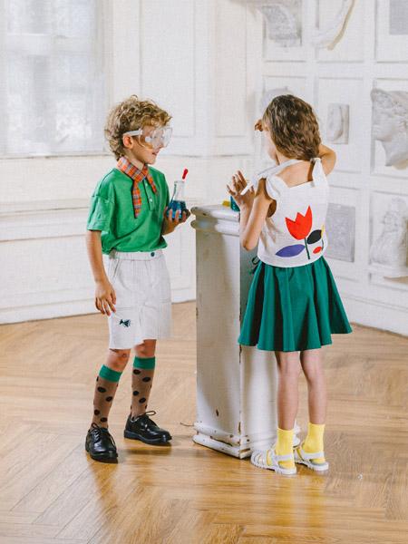 五月童品 mayosimple童装品牌2020春夏绿色短裙迷你