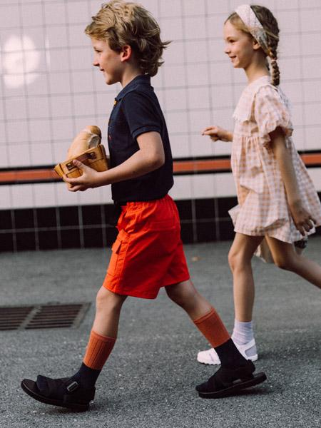 五月童品 mayosimple童装品牌2020春夏红色短裤