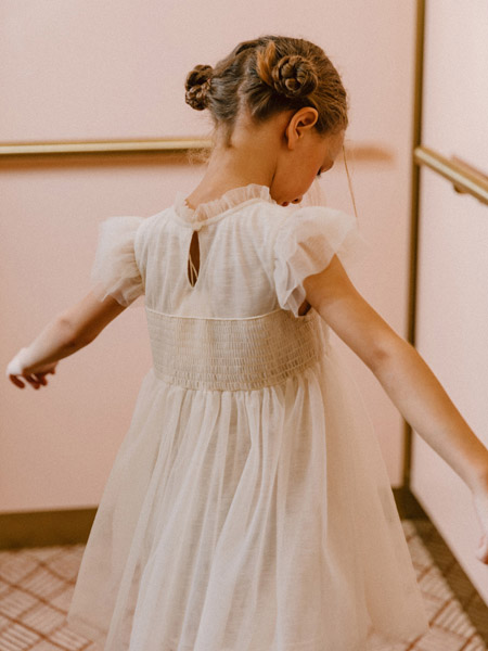 五月童品 mayosimple童装品牌2020春夏白色网纱连衣裙