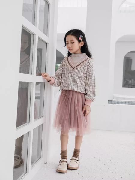 思贝秀童装品牌2020秋冬粉色网纱半裙