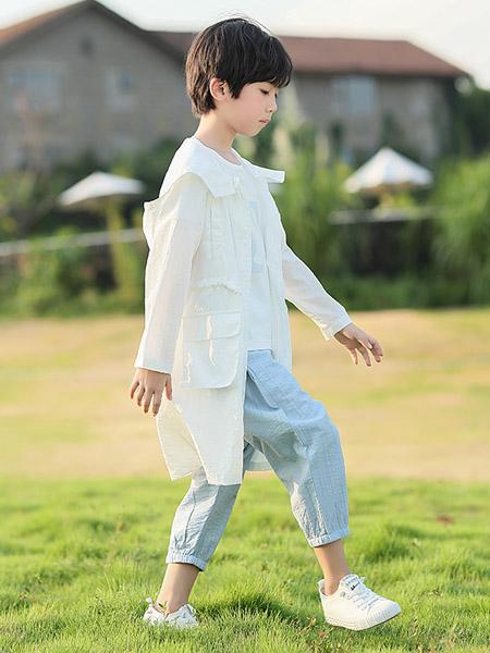 米兰达童装品牌2020春夏荷叶边白色衬衫