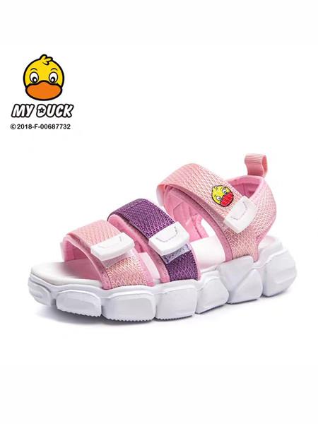 小黄鸭童鞋品牌2020春夏女童防滑魔术贴凉鞋