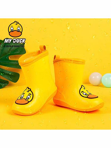小黄鸭童鞋品牌2020春夏可爱高帮防滑雨靴