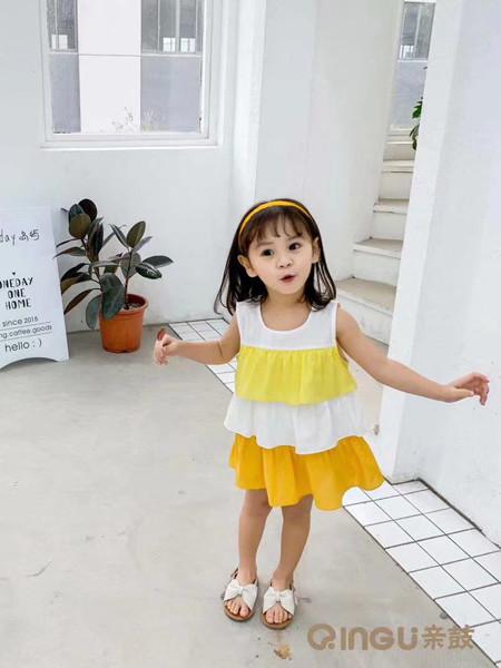 妈爱家童品童装品牌2020春夏可爱女童吊带裙