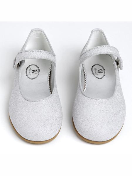 Papouelli童鞋品牌2020春夏纯白女童小布鞋
