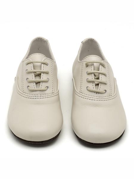 Papouelli童鞋品牌2020春夏真皮复古系带皮鞋