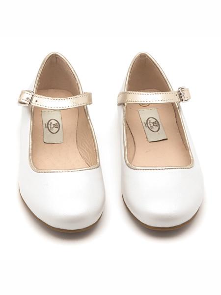 Papouelli童鞋品牌2020春夏小高跟复古皮鞋