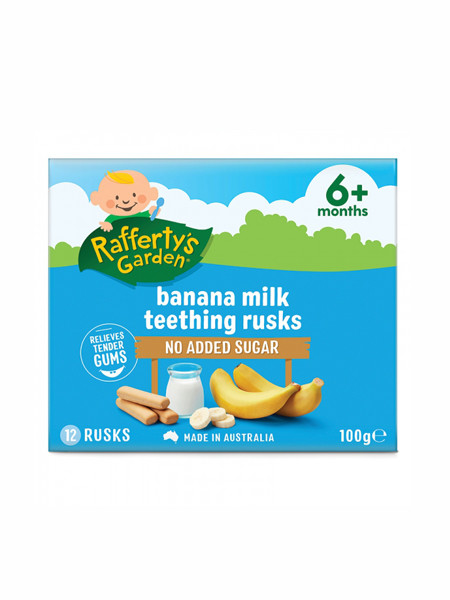 Rafferty s Garden婴儿食品婴幼儿香蕉味磨牙棒