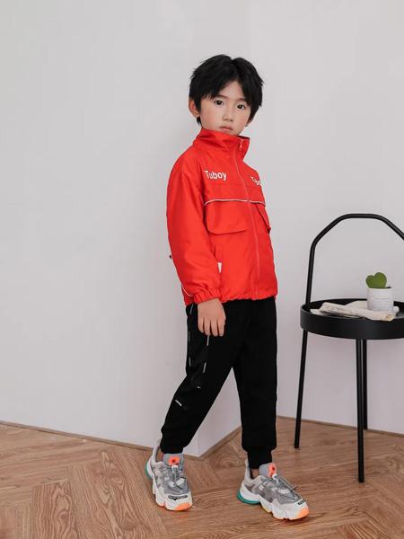 TU图零钱童装品牌2020秋冬大红色外套