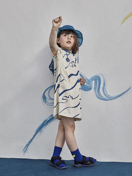 小日着童装品牌2020春夏个性条纹休闲裙