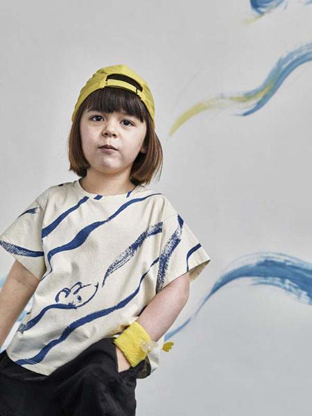 小日着童装品牌2020春夏纯棉圆领短袖