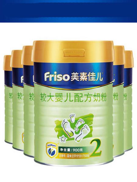 美素佳儿婴儿食品Friso美素佳儿荷兰原装进口较大婴儿奶粉2段900g*6 适合6-12个月