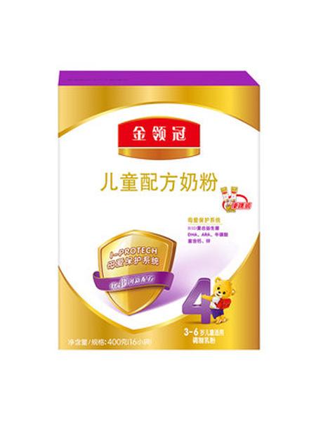 伊利金领冠婴儿食品4段儿童3-6岁配方奶粉900g