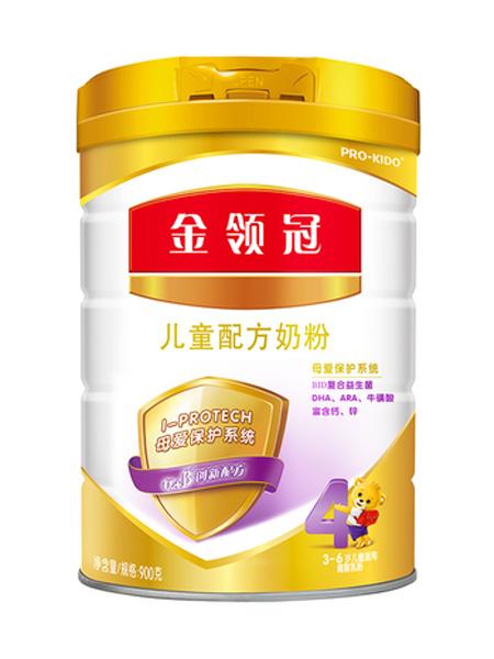 伊利金领冠婴儿食品领冠4段3-6岁儿童配方奶粉400g