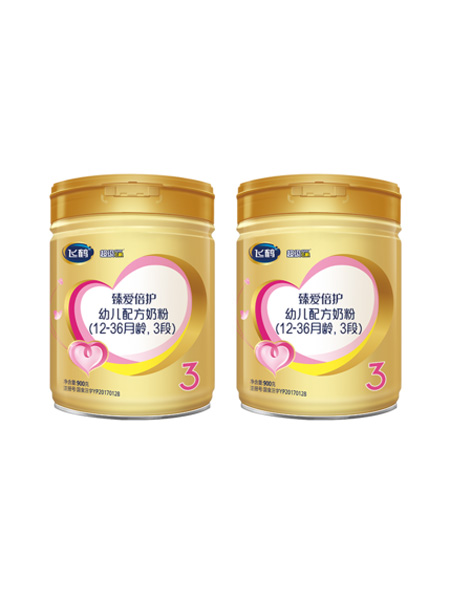 飞鹤婴儿食品飞鹤超级飞帆3段婴幼儿牛奶粉900g*2罐