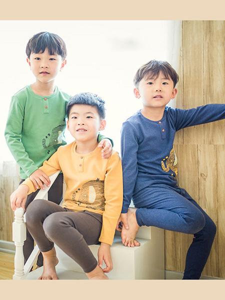 盛凯·安琪童装品牌2020春深蓝色家居服套装