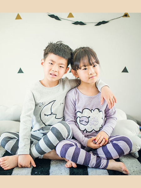 盛凯·安琪童装品牌2020春紫色家居服套装