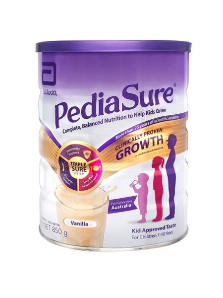 雅培婴儿食品荷兰原装进口 雅培(Abbott) 英版小安素 全营养儿童成长配方奶粉 香草味 (1-10岁) 400g/罐