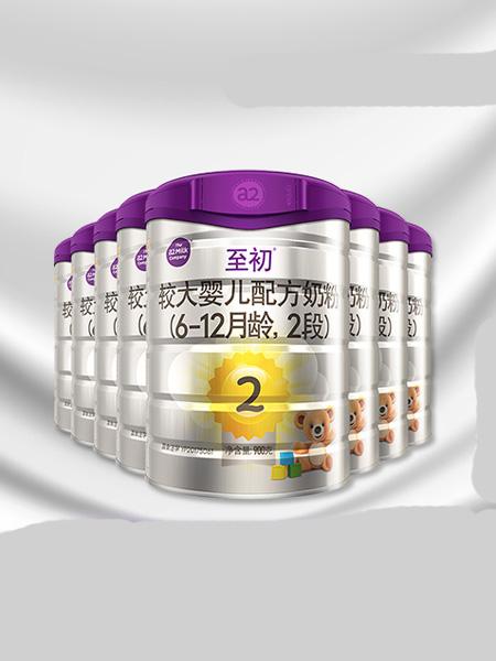 a2白金婴儿食品新西兰进口婴幼儿奶粉二段2段900g*8 乳铁蛋白