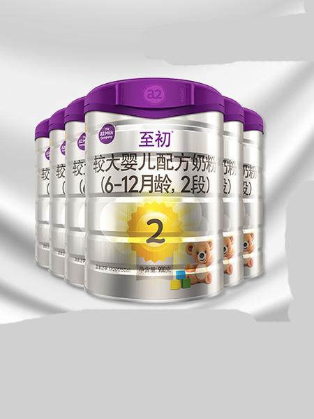 a2白金婴儿食品新西兰进口婴幼儿奶粉二段2段900g*6 乳铁蛋白