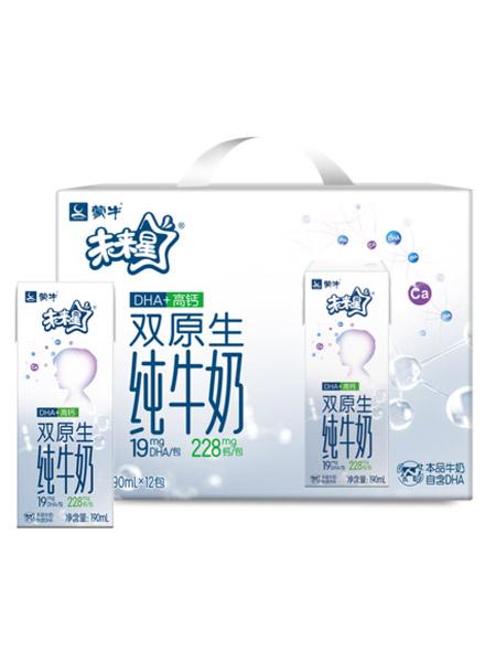 未来星婴儿食品未来星双原生纯牛奶190ml*12包 DHA高钙儿童奶