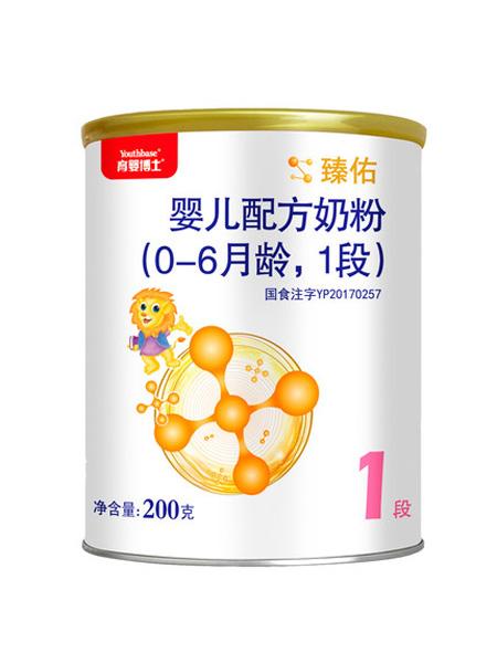 育婴博士婴儿食品贝因美育婴博士 臻佑 婴儿配方牛奶粉 (0-6月龄,1段)800g
