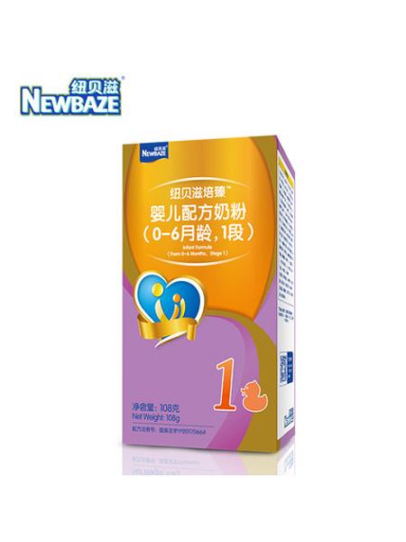 纽贝滋奶粉婴儿食品纽贝滋培臻1段试吃小盒粉 108g盒装奶粉