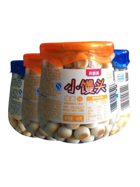 贝因美婴儿食品贝因美 儿童辅食 牛奶味+蛋黄味小馒头130g各2罐共4罐