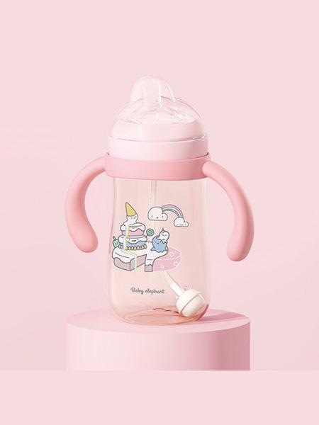 红色小象婴童用品2020春夏红色小象新生儿宽口奶瓶PPSU婴儿断奶神器宝宝仿母乳吸管耐摔正品