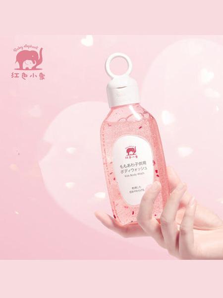 红色小象婴童用品2020春夏红色小象婴儿桃心沐浴露宝宝天然洗护儿童沐浴液正品