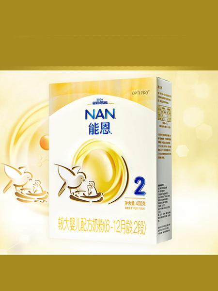 雀巢婴儿食品雀巢能恩2段婴儿配方奶粉400克盒装添加活性益生菌