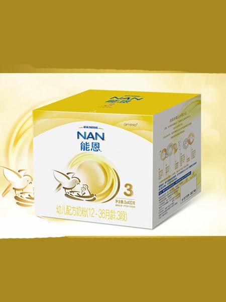 雀巢婴儿食品新客减30雀巢能恩3段婴儿配方奶粉1200克盒装添加益生菌