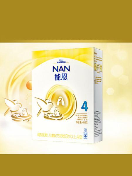 雀巢婴儿食品雀巢母婴能恩4段儿童A2奶牛配方奶粉400g*1添加益生菌