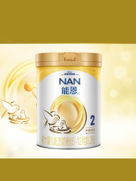 雀巢婴儿食品雀巢能恩2段婴儿配方奶粉900克罐装添加活性益生菌