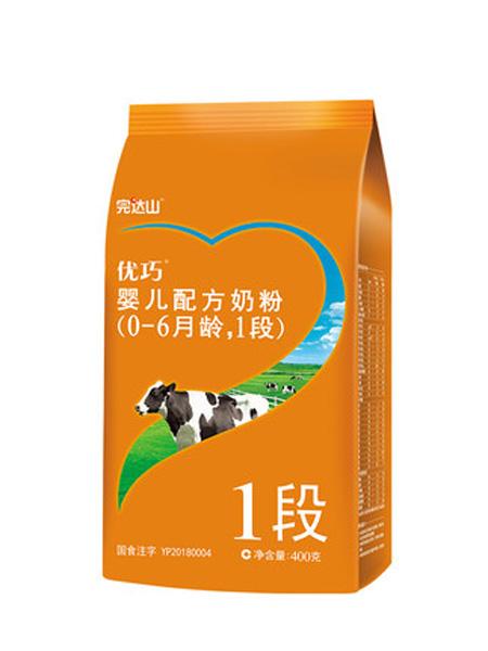 完达山婴儿食品完达山奶粉 新段粉 优巧1段0-6个月 一段婴儿牛奶粉 400g/袋装