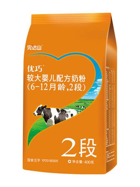 完达山婴儿食品完达山奶粉 优巧新段粉2段婴儿奶粉 幼儿宝宝儿童牛奶粉 400g/袋