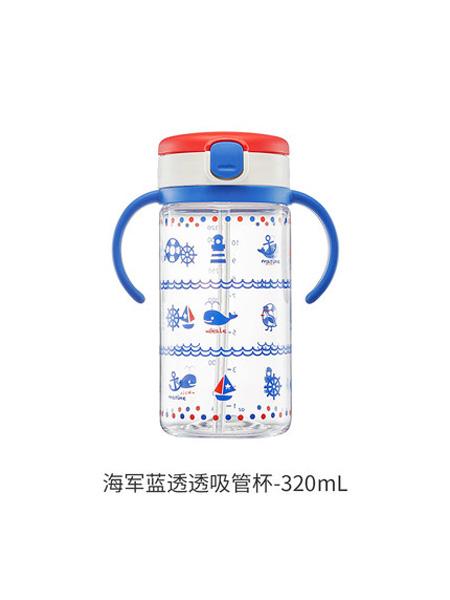 利其尔婴童用品Richell利其尔儿童吸管水杯宝宝学饮吸管杯婴儿喝水杯带手柄