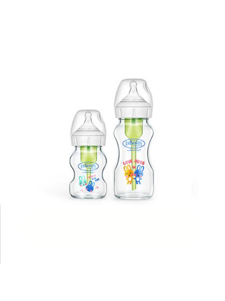 布朗博士婴童用品新生婴儿玻璃奶瓶防呛奶瓶防胀气宽口径奶瓶