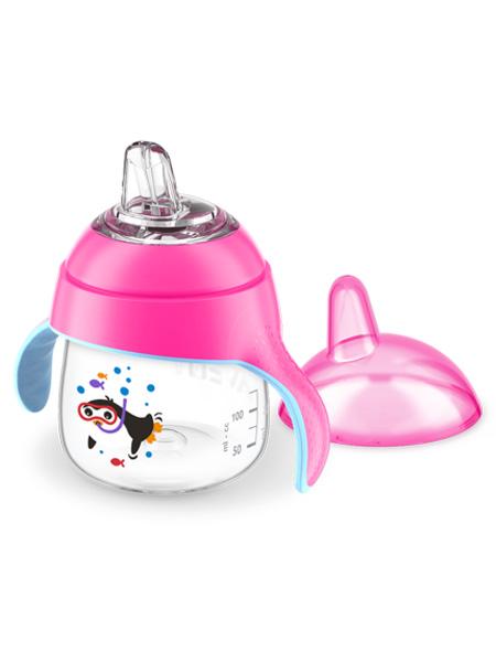 新安怡婴童用品飞利浦新安怡儿童水杯宝宝学饮杯鸭嘴杯企鹅杯防漏水杯200ml